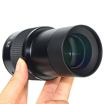 """2"""" ED 2x Barlow Lens for Astronomic Telescope+2"""" to 1.25 """" Adapter High Quality"""