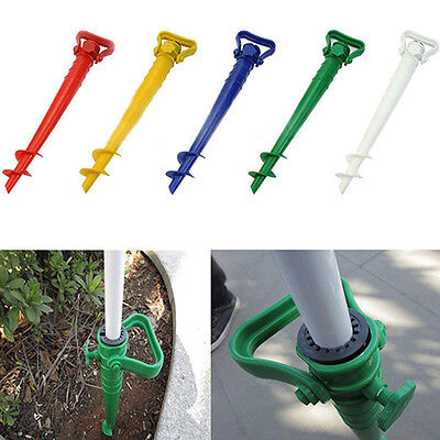 Sun Beach Patio Umbrella Holder Parasol Ground Anchor Spike Fishing Stand Clever