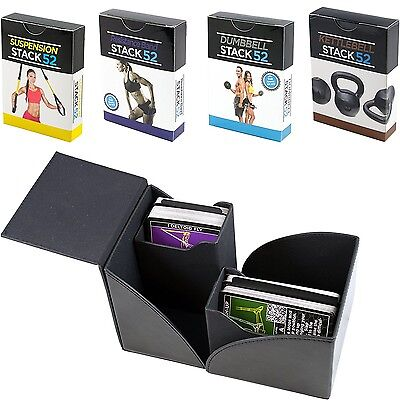 Exercise Card Gift Box Set by Stack 52. Dumbbell, Kettlebell, Resistance Band, a