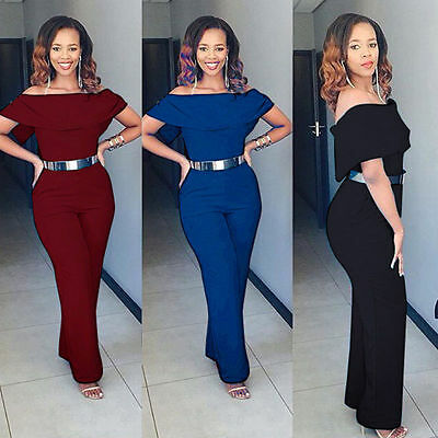 Women Lady Clubwear Playsuit Bodycon Party Jumpsuit Trousers Romper Plus Size