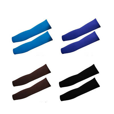 NEW 1 Pair Outdoor Lycra Sports Basketball Cycling Sun Protective Arm Sleeves US
