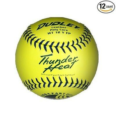 Dudley 28cm USSSA Thunder Heat Leather Fastpitch Softball - pack of 12. Shipping