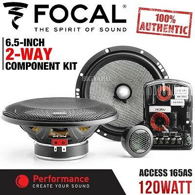 "New Genuine FOCAL ACCESS 165AS 6.5"" 120W 2-Way Car Component Kit Speaker System"