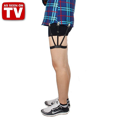 Shirt Holders Garter Belt For Perfectly Tucked Men Shirts - As Seen On TV -2 Pcs
