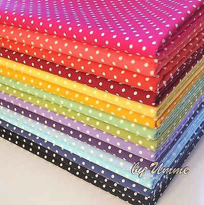 3mm / 7mm Spots Polka Dots Fabric 100% Cotton Material -Clothing Patchwork Craft