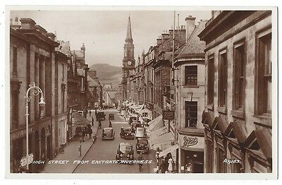 INVERNESS High Street from Eastgate, RP Postcard Unused