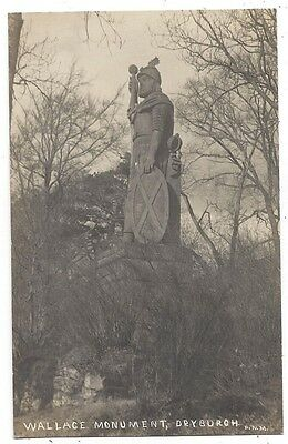 DRYBURGH Wallace Monument, RP Postcard Unused