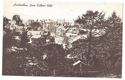 AUCHINBLAE View from Gilbert Hill, Old Postcard by Archibald Taylor, Unused