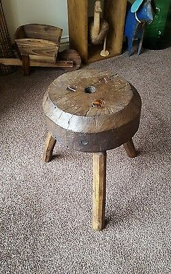 antique stool Milking Stool Vintage Rustic European
