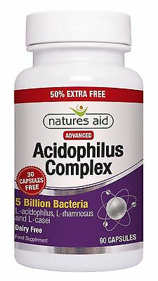 Acidophilus 5 Billion - 50%EF 90 Capsules Natures Aid