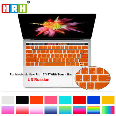 US Silicone Russian Keyboard Skin For Macbook Pro 13 15 Touch Bar 2016/2017/2018
