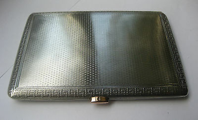 Antique Mappin & Webb Solid Silver & Rose Gold Cigarette Case 1910