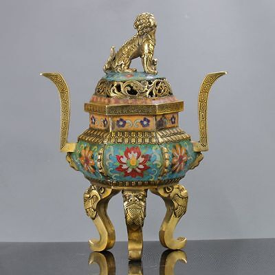 Chinese Antique Cloisonne Handwork Incense Burners W Xuande Mark