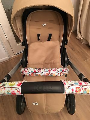 Handmade pushchair handle covers and baby bar
