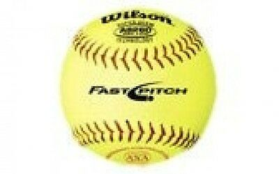 Wilson ASA Fast-Pitch 28cm Leather Softball (Pack of 12). Shipping is Free