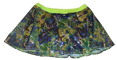 Justice Sequined Running Skirt with Sewn-in Pants (Skort) - Size 20. Huge Saving