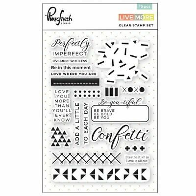 Pinkfresh Studio - Live More - Clear Stamp Set 26 tlg