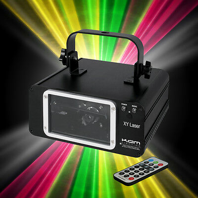 Kam XY Laser RGY Linkable Red Green Yellow Scanning Laser Light DJ Club + Remote