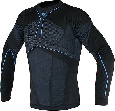 Dainese D Core Aero Long Sleeve Motorcycle Base Layer Stay Cool Top Black Blue