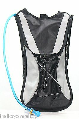 WilderMind 2L Refillable Water Hydration Bag Camelbak Backpack w/ Removable Pack