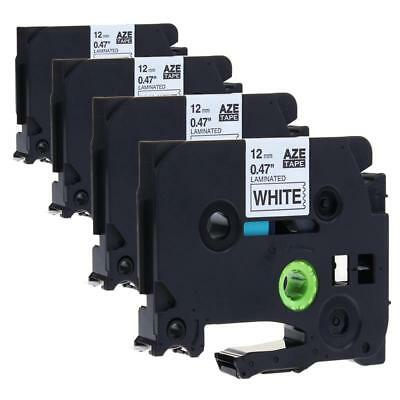TZe-231 P-touch Label Tape Compatible for Brother Laminated 12 mm 4PK Labelmaker