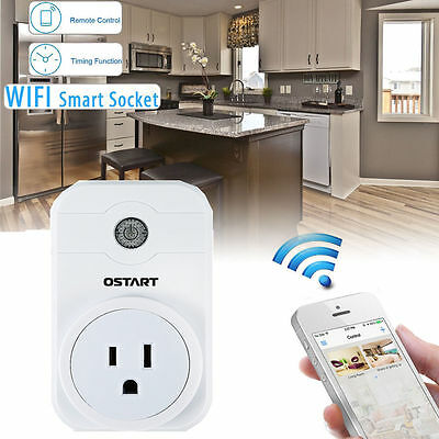 Ostart WiFi Smart Power Remote Control Timer Timing Switch Socket Outlet US Plug