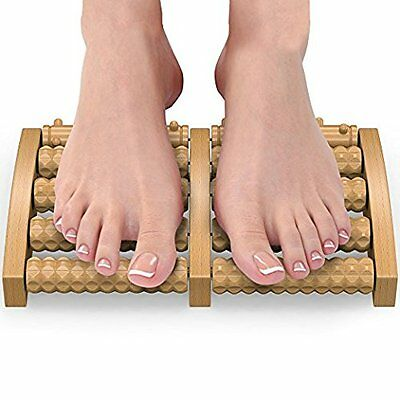 Wooden Dual Foot Massager and Roller For Pain Relief