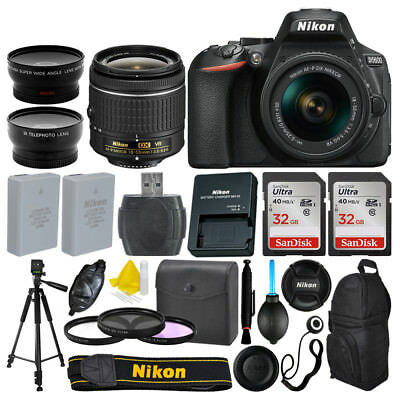 Nikon D5600 DSLR Camera +18-55mm AF-P VR 3 Lens + 64GB + More Great Value Bundle
