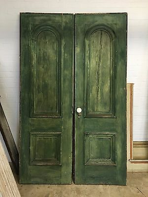Antique Double Doors with Arched Panels