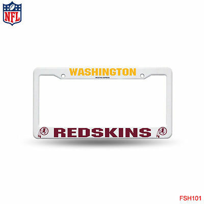 LOT OF 2 Rico NFL White Plastic License Plate Frame Washington ...