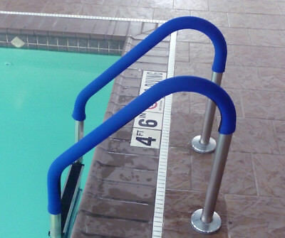 6 Ft Rail Grip - Blue for Swimming Pool Handrail 2 Pack