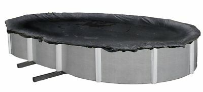 Winter Pool Cover Above Ground 18X40 Ft Oval Arctic Armor 8Yr Warranty w/ Clips