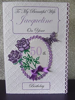 Personalised Birthday Card  50th 30th 40th etc Mum Daughter Sister Friend Gran