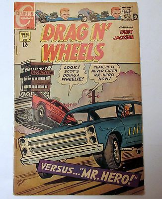 Charlton Comics DRAG N' WHEELS 1st Issue #30 September 1968 Jack Keller