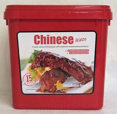 Middleton Foods 🌾 CHINESE Meat Glaze Marinade Seasoning Mix 2.5kg Red Tub