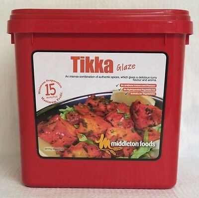 Middleton Foods 🌾 TIKKA Meat Glaze Marinade Seasoning Mix 2.5kg Red Tub