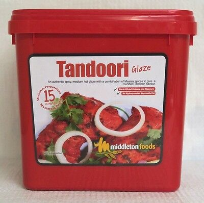 Middleton Foods 🌾 TANDOORI Meat Glaze Marinade Seasoning Mix 2.5kg Red Tub