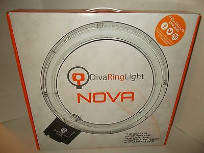 "NEW Diva Ring Photo Photography Light Nova 18"" Fluorescent with 6' Light Stand"