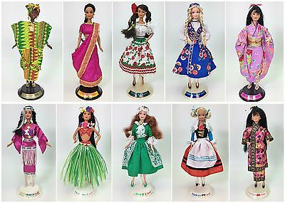 Lot Of 10 Barbies Dolls Of The World Dotw Used