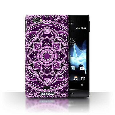 Case/Cover Sony Xperia Miro/ST23I / Mandala Art / Floral/Purple