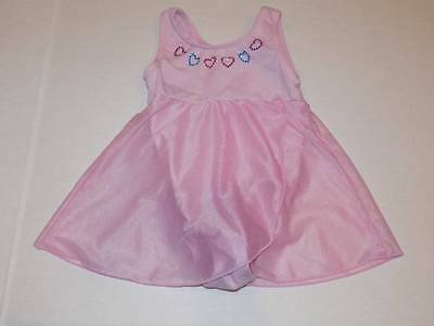 girls leotard size 3t cotton polyester body suit with attached skirt moret