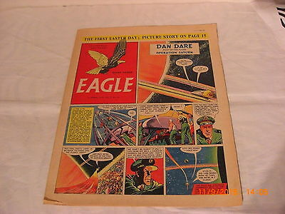 Classic Eagle Comic Vol 5 no 16 from 15th Apr 1954 Dan Dare Operation Saturn