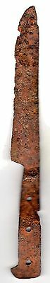Rare Roman Iron Knife Blade With Handel, Likely Domestic Use 300 - 500 Ad