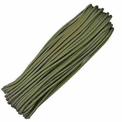 50FT 15 metre 550 Paracord Strands Parachute Cord Rope Lanyard Army green UK