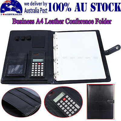 Business A4 Executive Conference Folder Portfolio PU Leather Papers Organiser DP