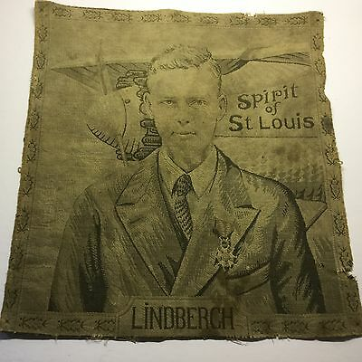 Charles Lindbergh Spirit of St. Louis Tapestry Made In France 1929