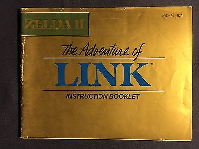 Zelda 2 The Adventure Of Link Instruction Manual For Nintendo NES From 1987