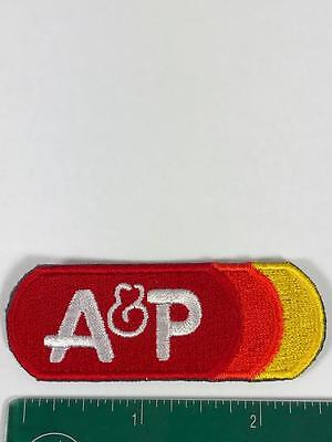 NEW A&P Patch Grocery Supermarket vintage uniform shirt  advertising logo