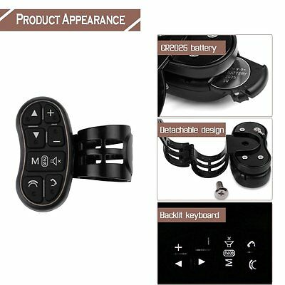 Universal Motor Car Steering Wheel Controller KeyChain for Audio DVD GPS Player