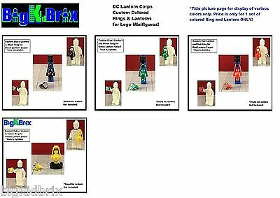 LANTERNS & RINGS Custom made for LEGO Minifigures DC Green Lantern Corps minifig